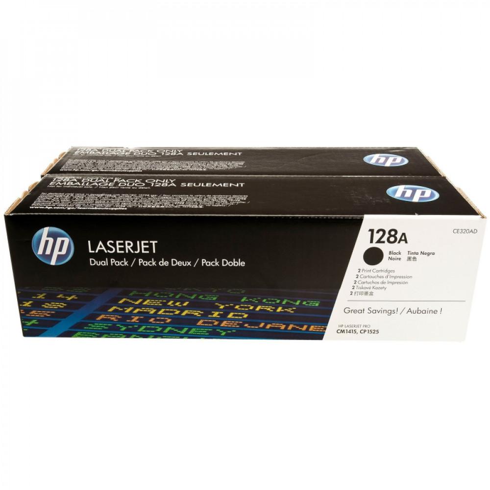 Картридж HP CE320AD Bk dualpack