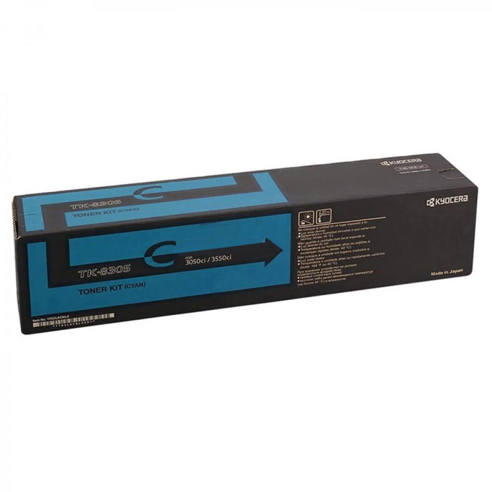 Тонер-картридж Kyocera TK-8305C для МФУ TASKalfa 3050ci голубой (1T02LKCNL0) (Original)