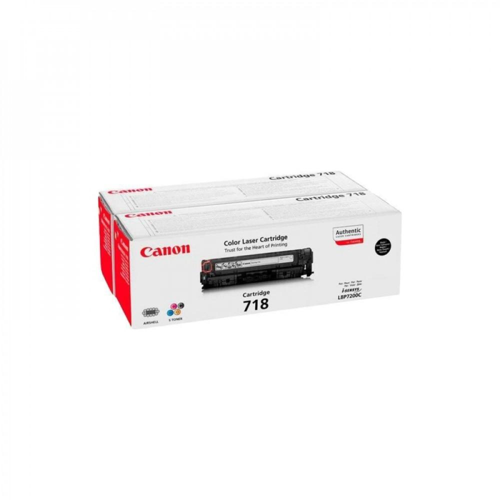 Картридж Canon C-718 Bk (2шт) 2662B005