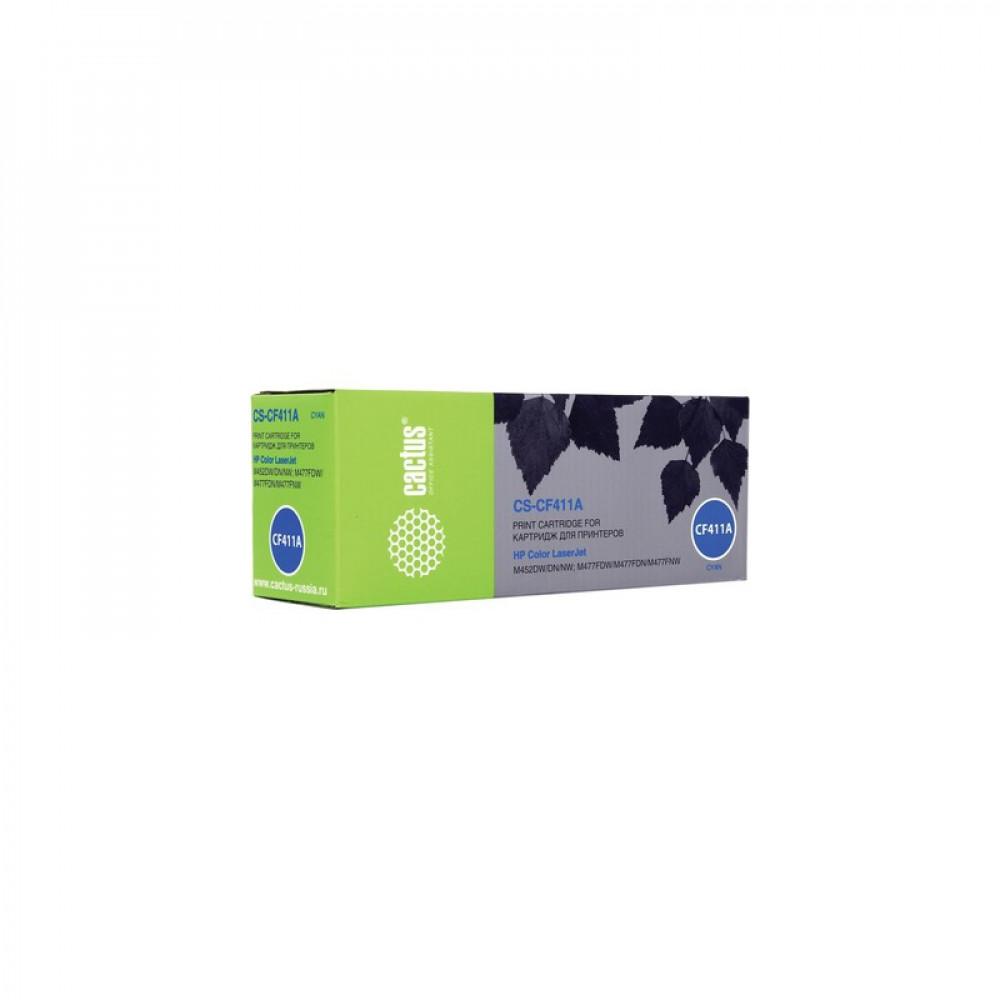 Картридж Cactus для HP CS-CF411A голубой