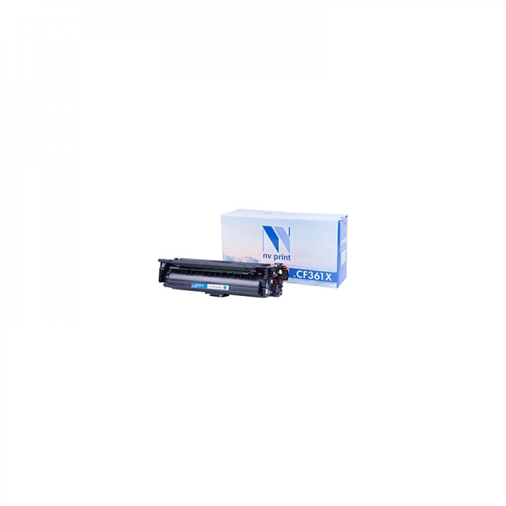 Картридж NV Print для НР CF361X Cyan для LaserJet Color M552dn/M553dn/M553n/M553x/MFP-M577dn/M577f/Flow M577c (9500k) (NV-CF361XC)
