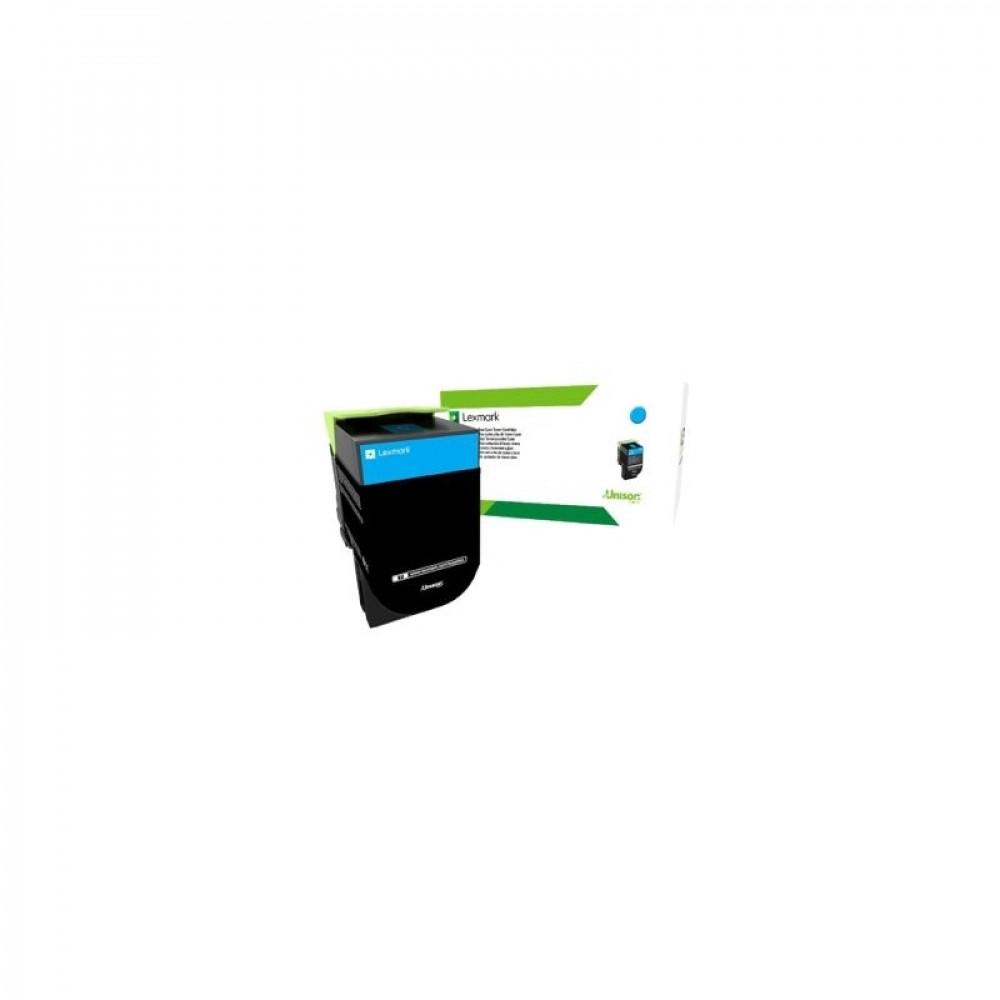 Тонер-картридж Lexmark 71B5HC0 голубого цвета повышенной емкости (в рамках программы возврата)