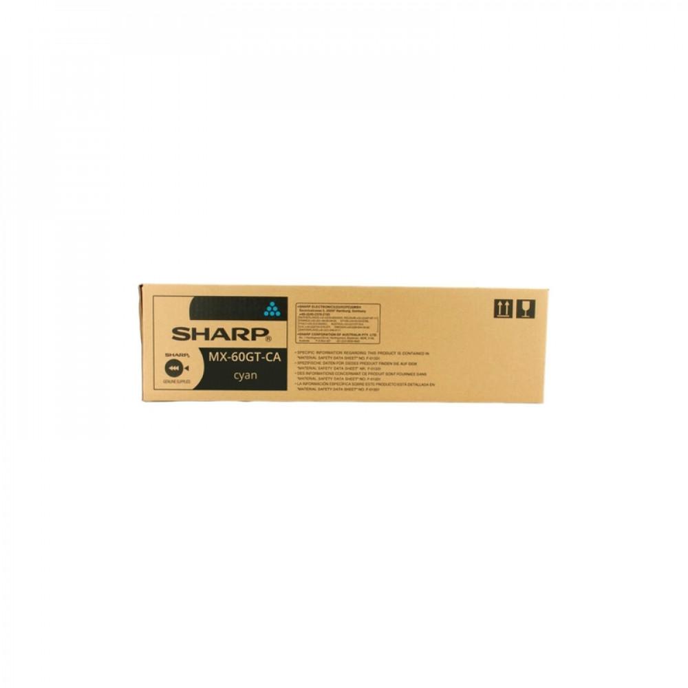 Тонер-картридж Sharp MX60GTCA голубой 24 000 страниц