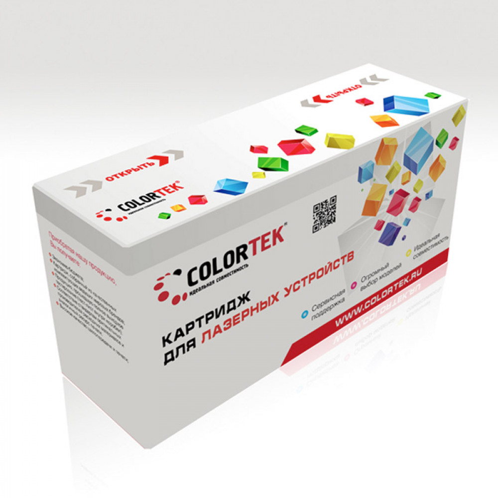 Картридж Colortek для Xerox 106R01455 (106R01459) 6128 Bk