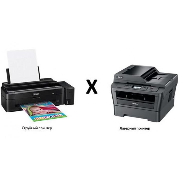Чем отличается лазерный принтер от струйного?